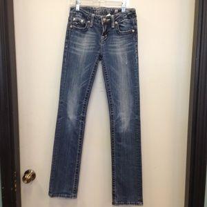 Miss Me Jeans Girls Size 14 straight Leg